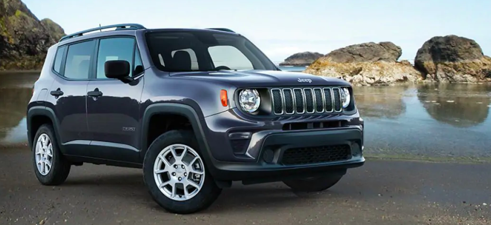 2019 Jeep Renegade on a Beach