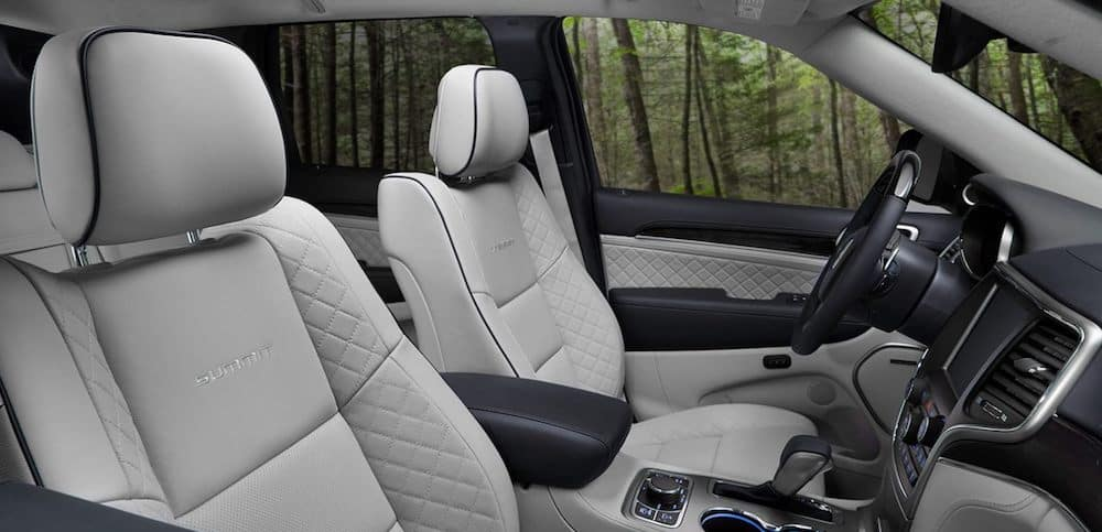 Heated and ventilated front seats in a 2020 Jeep Grand Cherokee