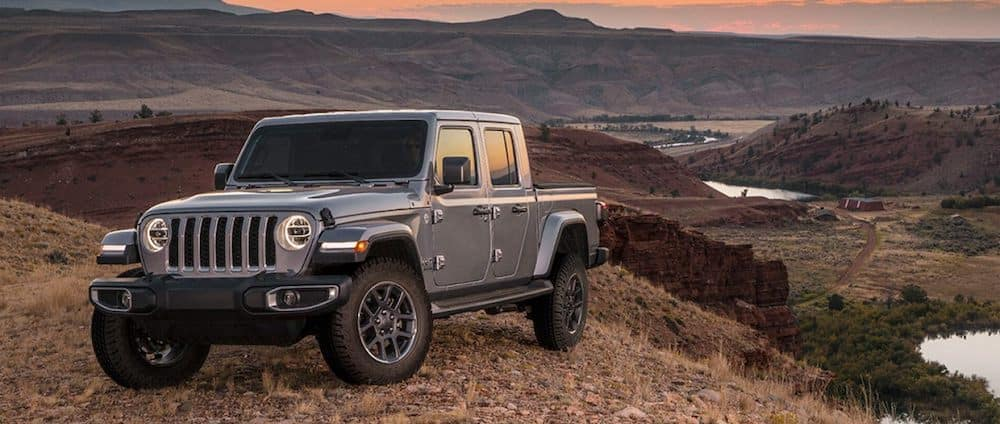 A 2020 Jeep Gladiator parked on a mountain