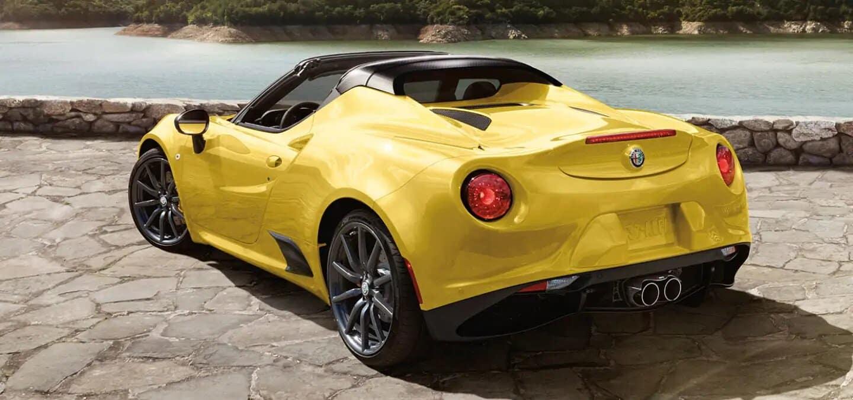 Yellow Alfa Romeo Spider