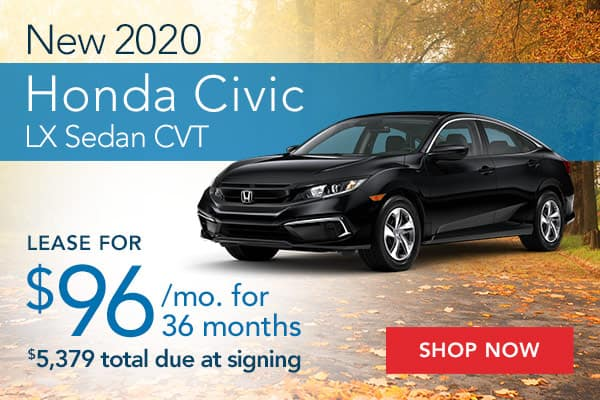 New 2020 Honda Civic LX Sedan CVT