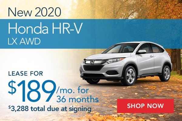 New 2020 Honda HR-V LX AWD