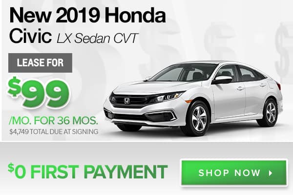 New 2019 Honda Civic LX Sedan CVT