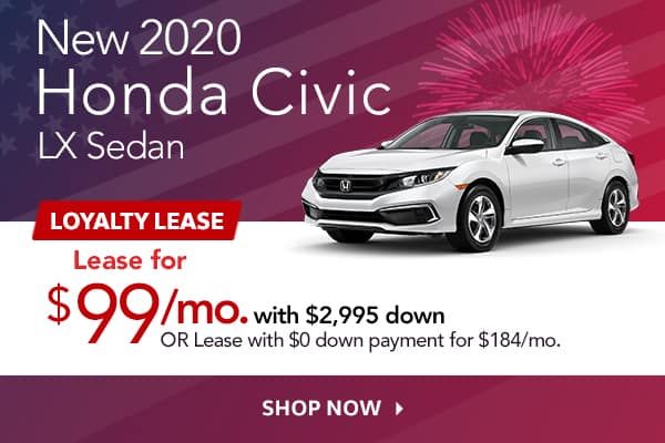 New 2020 Honda Civic LX Sedan