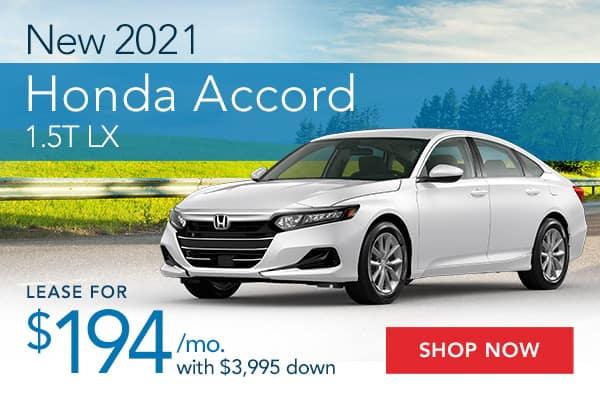 New 2021 Honda Accord 1.5T LX