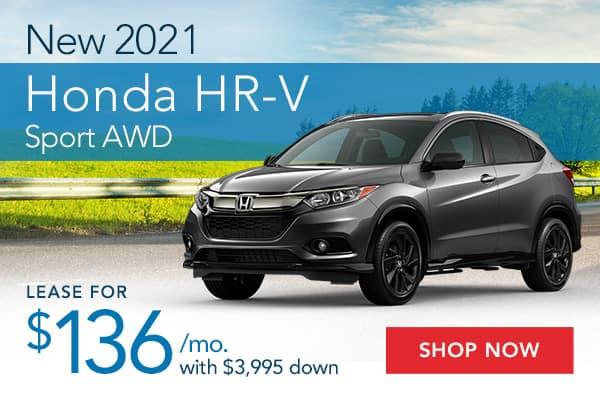 New 2021 Honda HR-V Sport AWD
