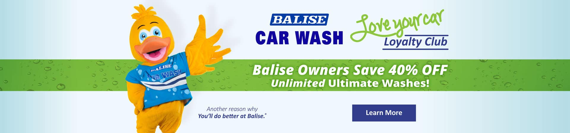 Balise Love Your Car Loyalty Club at Balise Car Wash