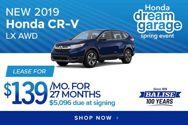 New 2019 Honda CR-V LX AWD