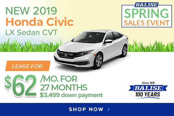 New 2019 Honda Civic LX Sedan CVT
