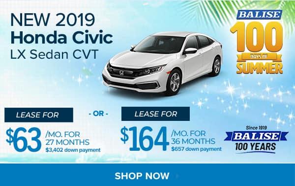 New Honda Civic Sedan in West Springfield | Balise Honda