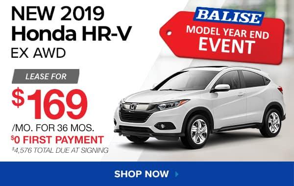 New 2019 Honda HR-V EX AWD