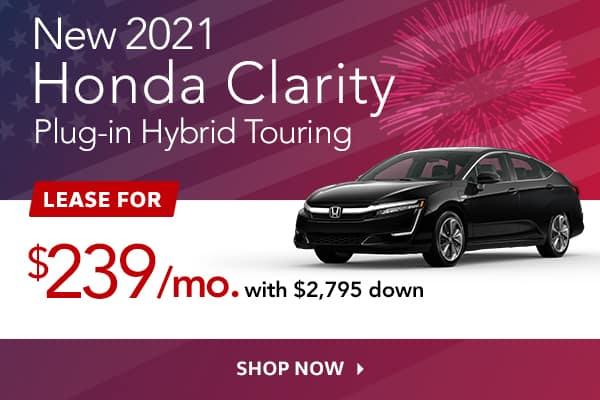 New 2021 Honda Clarity Plug-in Hybrid Touring