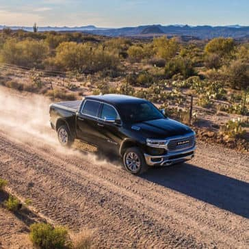 2019 All New Ram 1500 On dirt Road