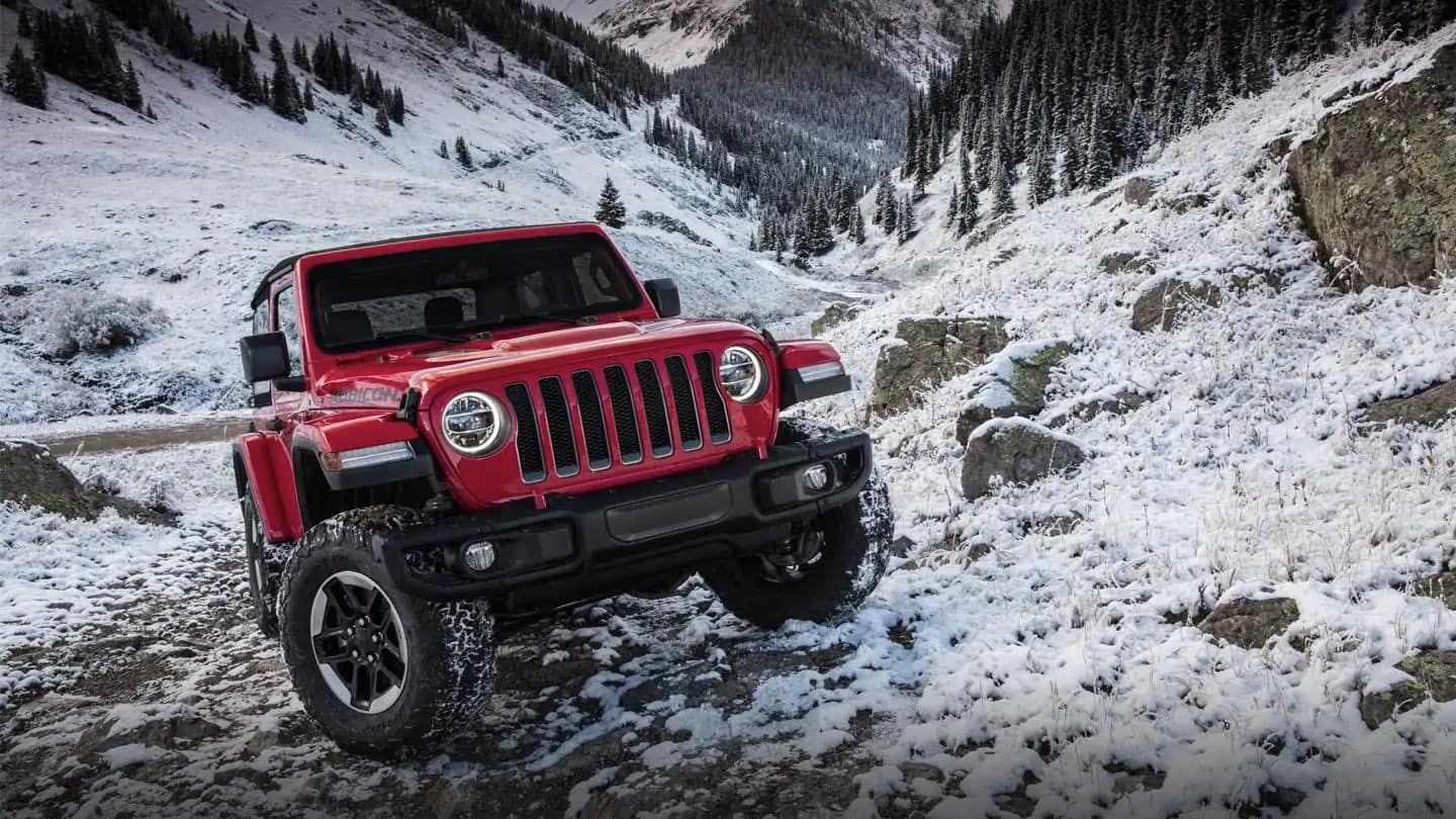 2019 Jeep Wrangler Rubicon in the snow