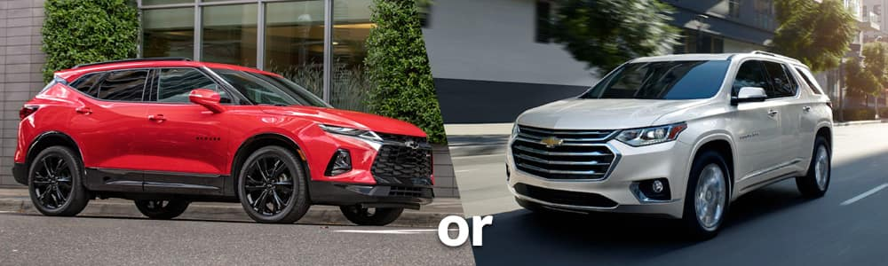 Chevy Blazer or Chevy Traverse: Which is Right for You?