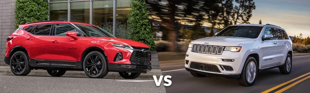 2019 Chevy Blazer vs. 2019 Jeep Grand Cherokee
