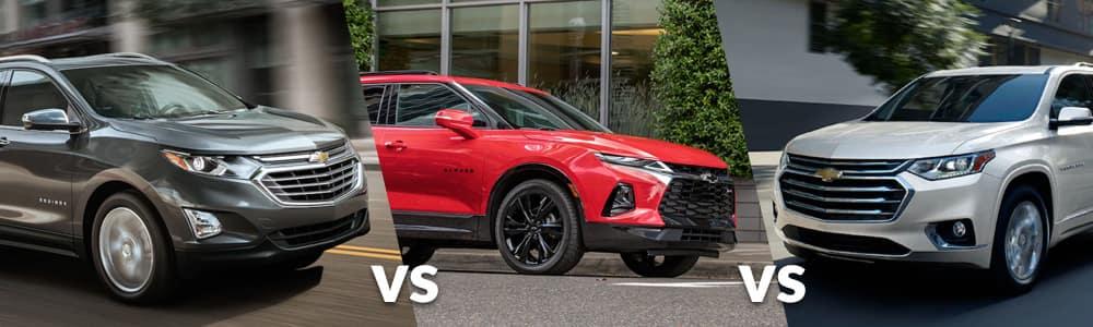 Equinox vs. Blazer vs. Traverse: Chevy SUV Size Comparison