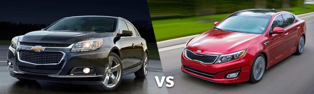 Used Chevy Malibu vs. Used Kia Optima