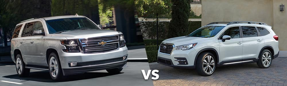 2019 Chevy Tahoe VS Subaru Ascent