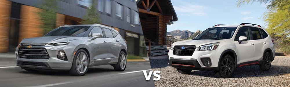 2019 Chevy Blazer VS 2019 Subaru Forester