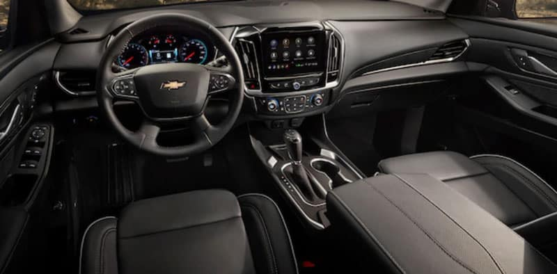 2020 Chevy Traverse interior