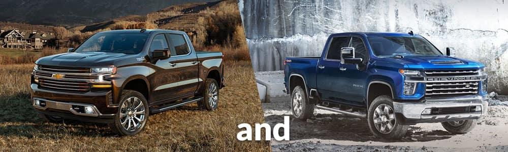 Differences between the 2020 Silverado 1500 and the 2020 Silverado 2500