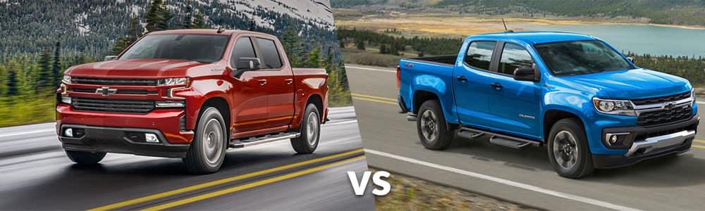 2021 Chevy Silverado 1500 vs. 2021 Chevy Colorado
