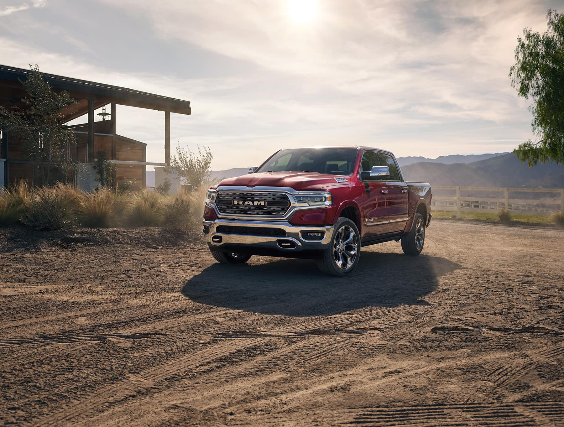 All-New 2019 Ram 1500 Pickup Truck in dirt