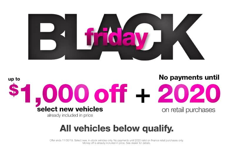 $1000 Off Black Friday Vehicles