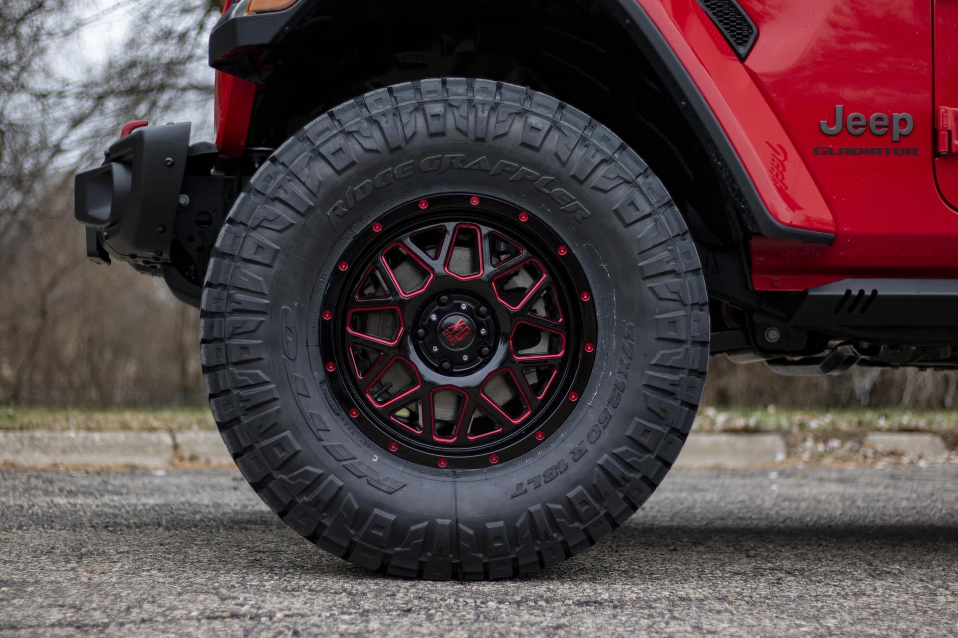 "OFF ROAD XD820 18"" wheels and 37x12 Nitto Ridge Grappler LT tires"