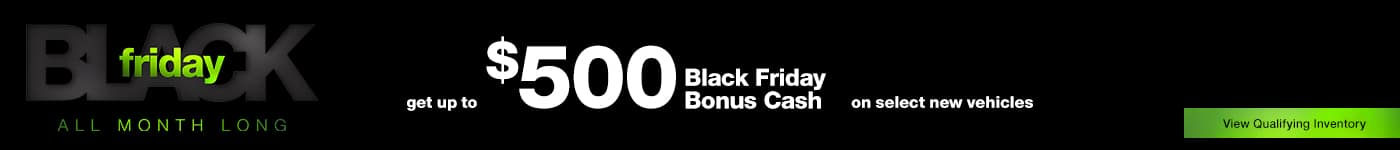 $500 Off on select new vehicles. Black Friday Specials at Bloomington Chrysler Jeep Dodge Ram