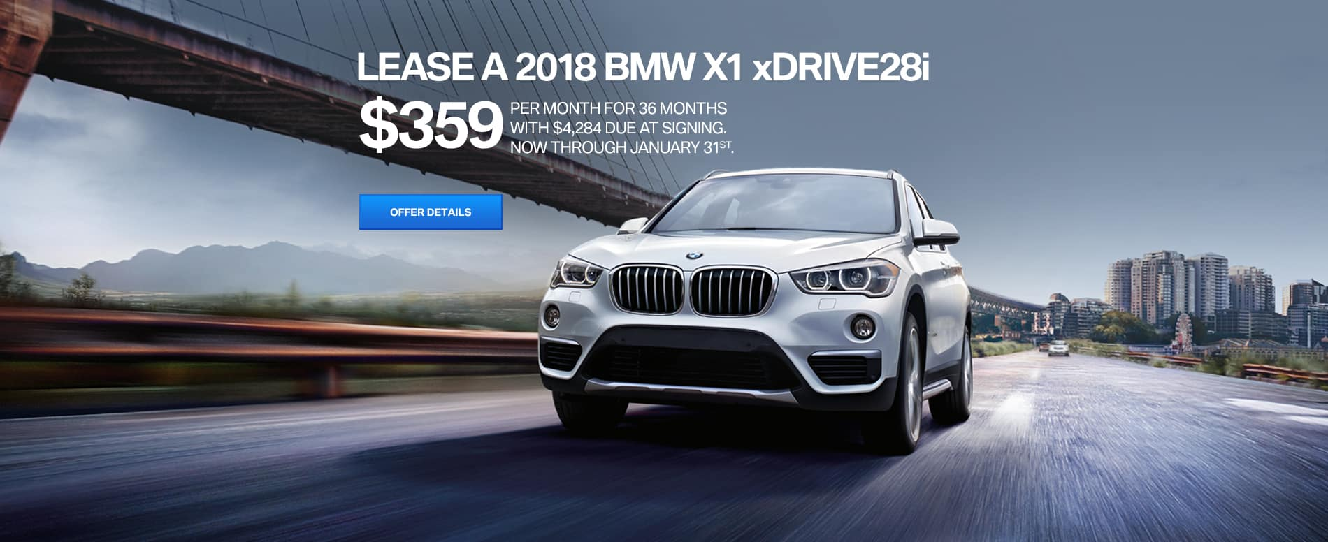 2018 BMW X1 xDRIVE28i January