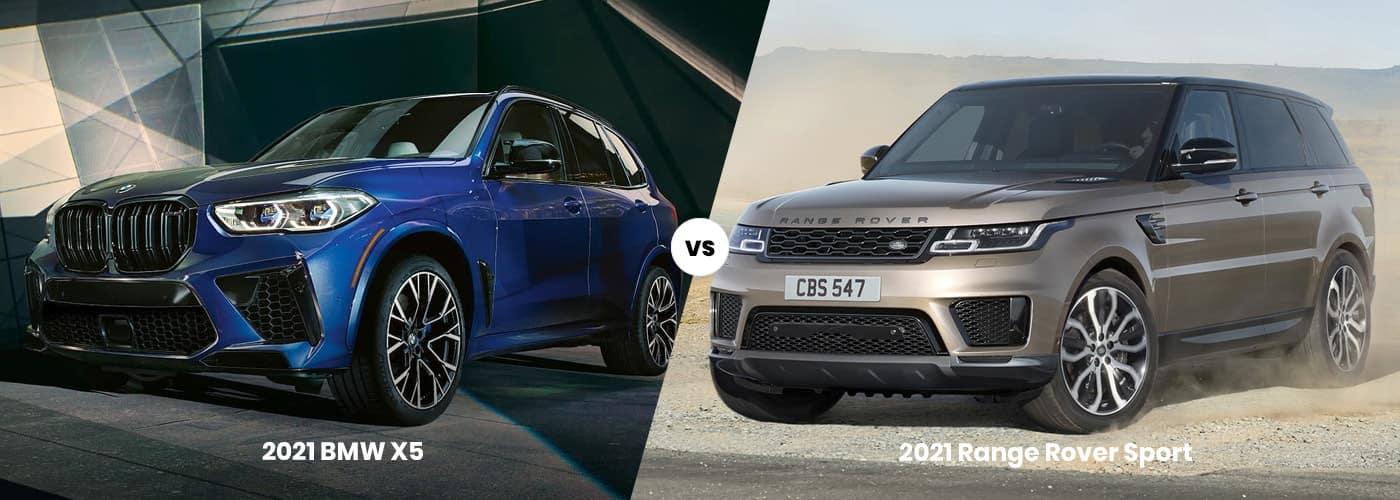 2021 BMW X5 vs. 2021 Range Rover Sport