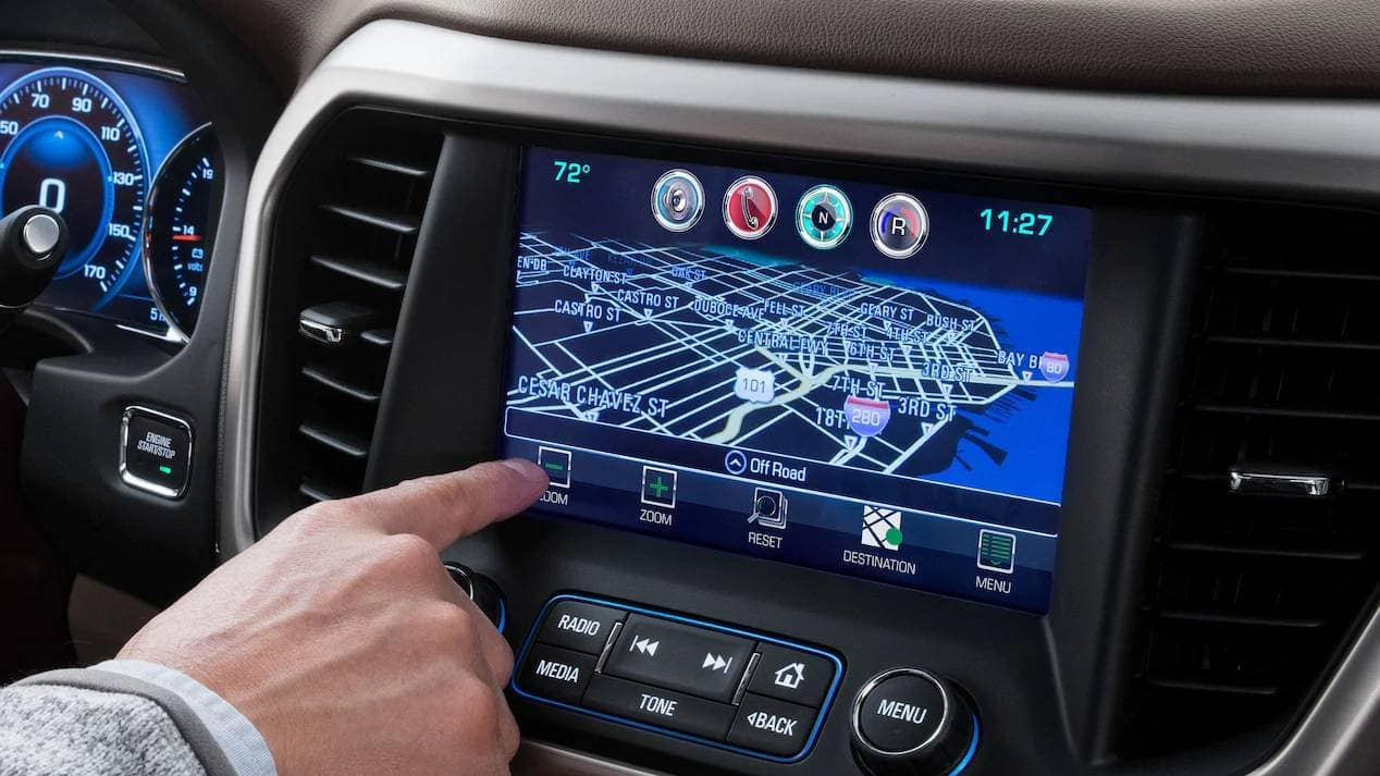 2019 GMC Acadia Touchscreen