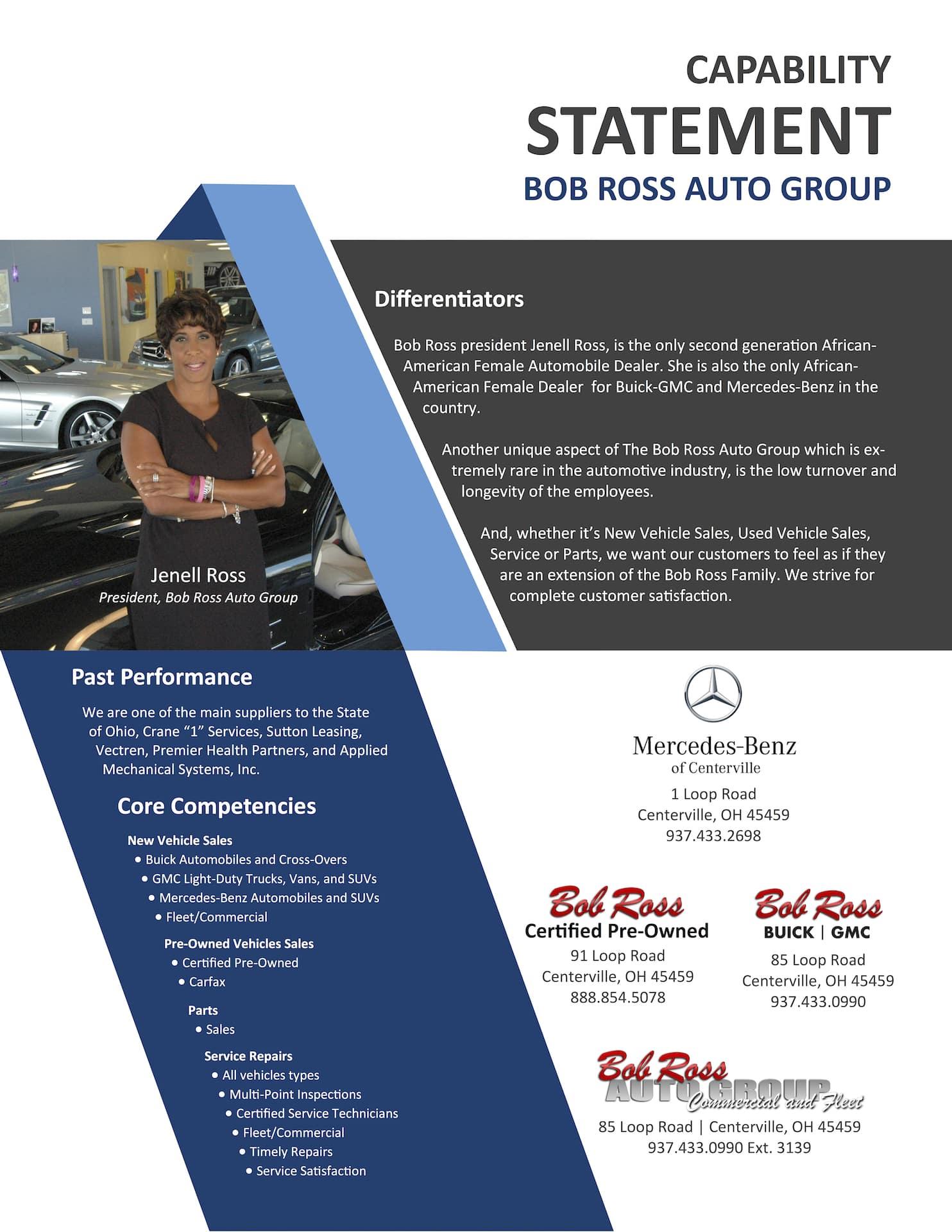 Bob Ross Buick GMC Capability Statement