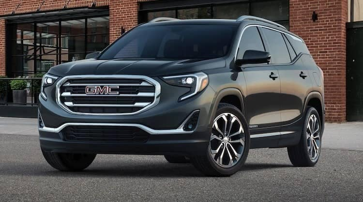 2019 GMC Terrain parked in front of building
