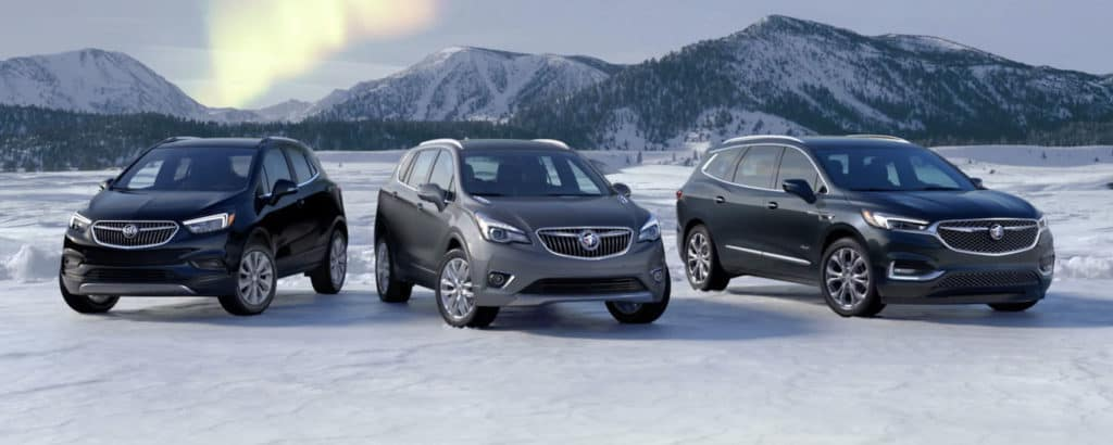2019 Buick Lineup in snow