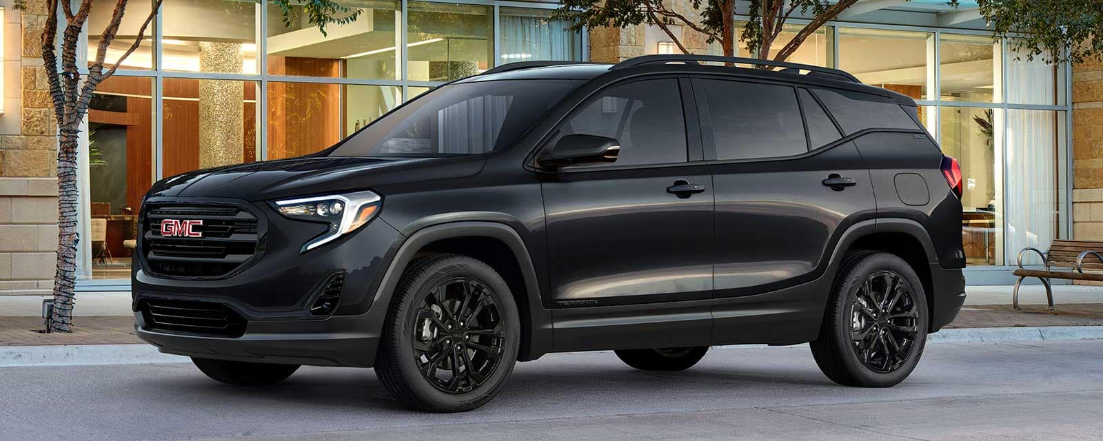 2020 GMC Terrain special editions elevation edition on a bright city block