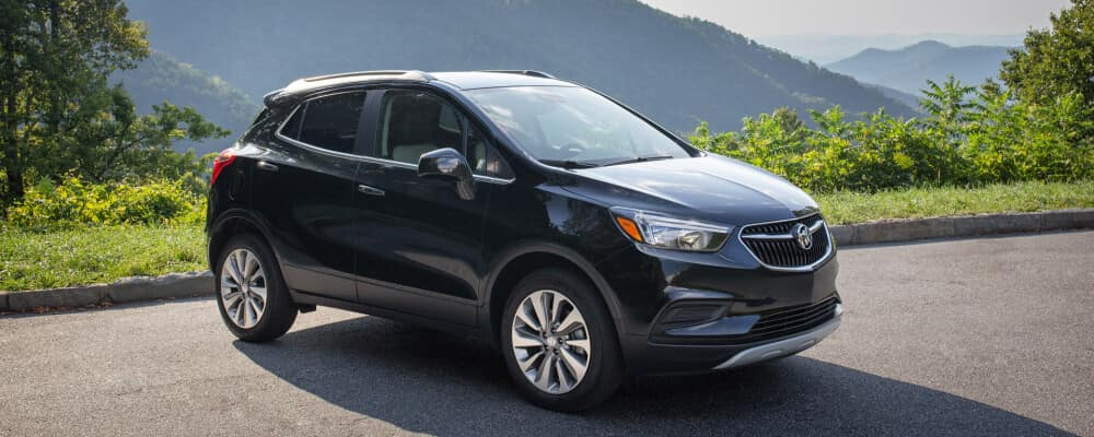 2020 Buick Encore on a mountain road