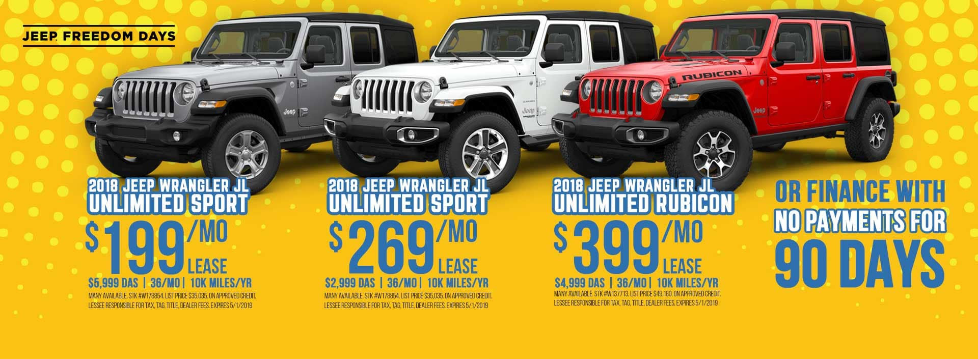 Jeep Wrangler Special Sale