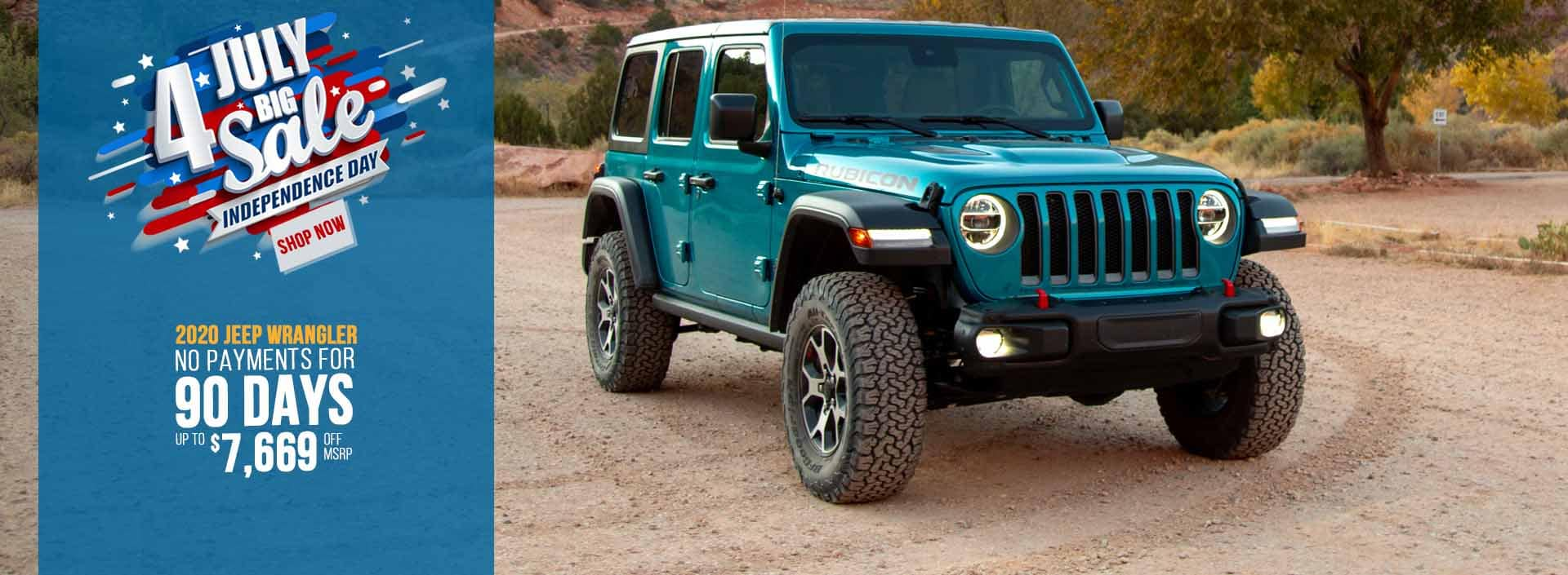 Jeep Wrangler 4th of July sale