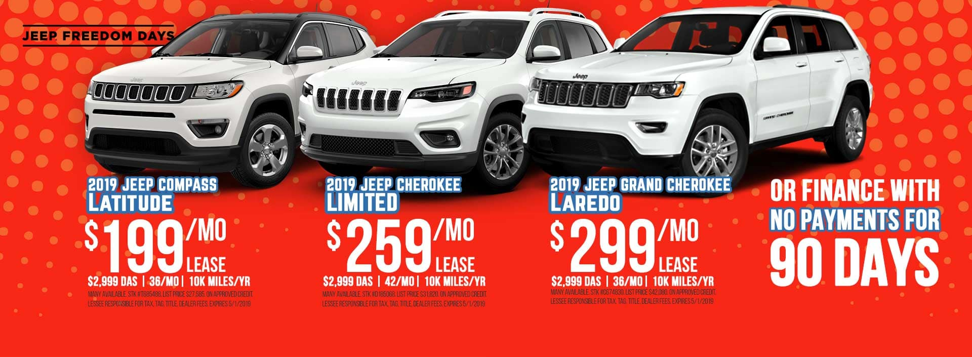 Jeep Compass Jeep Cherokee Jeep Grand Cherokee