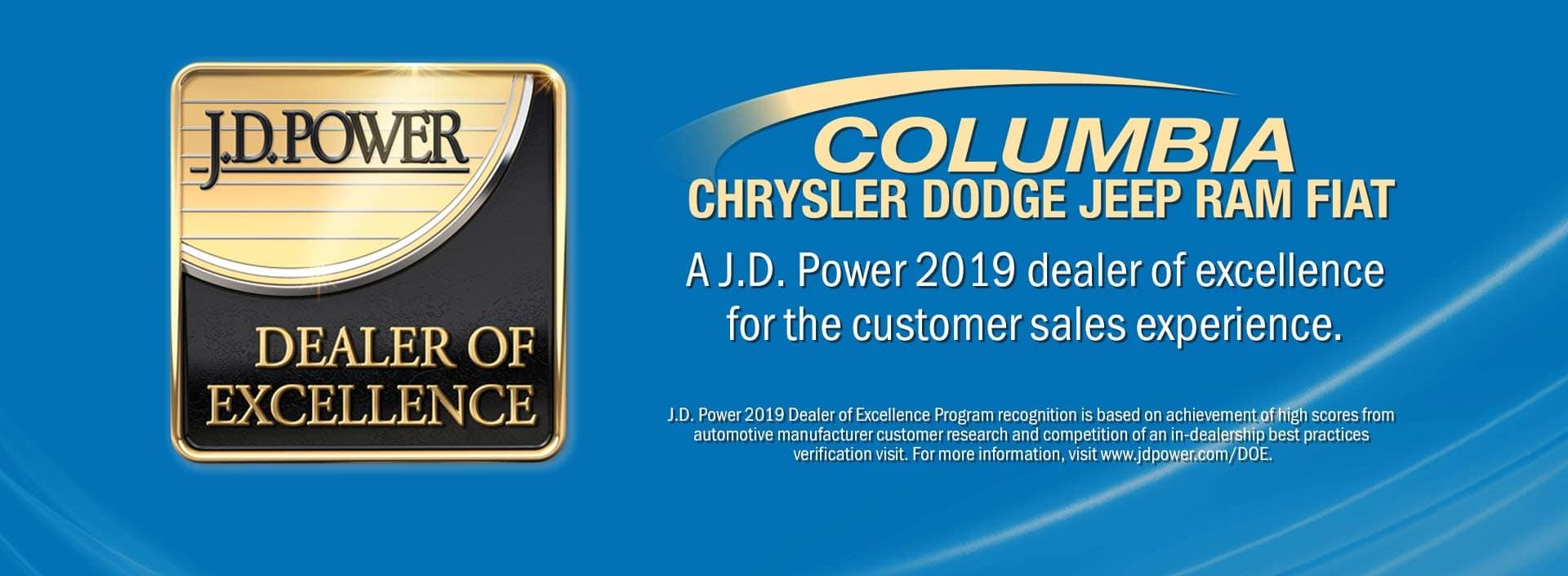 JD Power Award Columbia