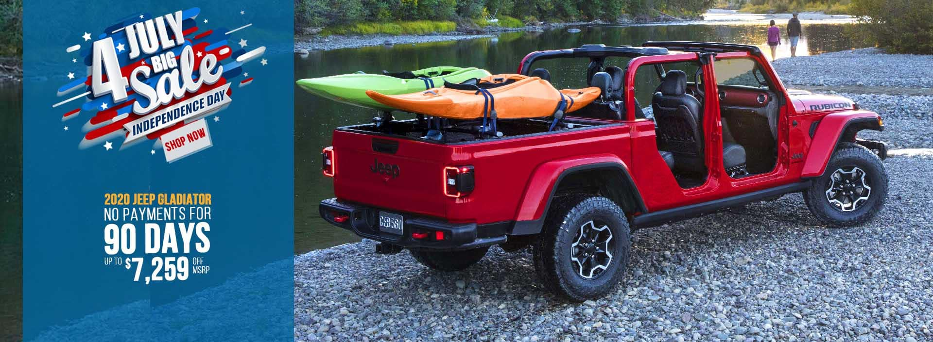 Jeep Gladiator 4th of july sale