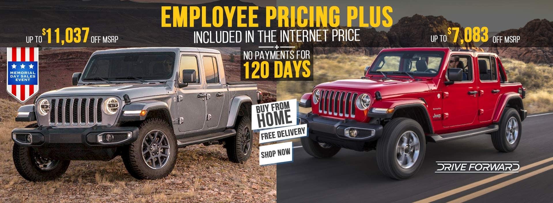 Memorial Day Sales Event Jeep Gladiator Jeep Wrangler