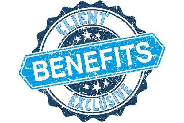 client exclusive benefits logo