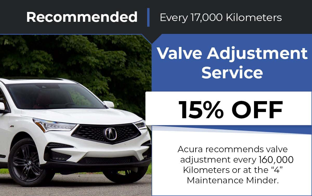 Acura Valve Adjustment Service Special Coupon