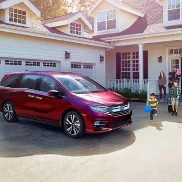 2019 Honda Odyssey In Driveway