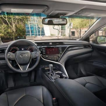 2019-Toyota-Camry-CA-XSE-V6-Black-Leather-Interior-Entune-System