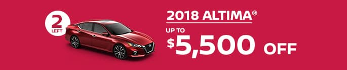 2018 altima get up to $5,500 off